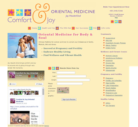 4 Comfort & Joy website